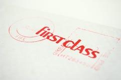 Eerste klassenenvelop Royalty-vrije Stock Afbeeldingen
