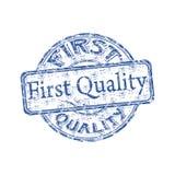 Eerste kwaliteits rubberzegel vector illustratie