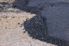 Eerste laag van asfalt Royalty-vrije Stock Foto's