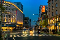 Eerste Lichten in Kobe royalty-vrije stock afbeeldingen