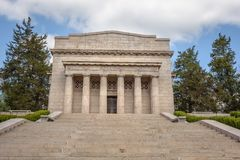 Eerste Lincoln Memorial in Abraham Lincoln Birthplace National Historical Park stock fotografie