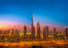 Eerste Meningen vanaf de bovenkant van Burj Khalifa Stock Foto