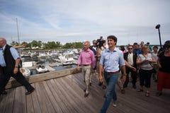 Eerste minister Justin Trudeau Walking stock afbeelding