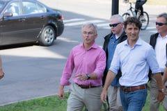 Eerste minister Justin Trudeau Walking royalty-vrije stock afbeelding