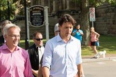 Eerste minister Justin Trudeau Walking royalty-vrije stock fotografie