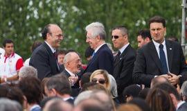 Eerste minister Mario Monti Royalty-vrije Stock Afbeelding