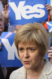Eerste Minister Nicola Sturgeon 2014 Royalty-vrije Stock Fotografie