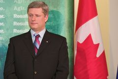 Eerste minister Stephen Harper Stock Foto