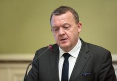 Eerste minister van het Koninkrijk van Denemarken Lars Lokke Rasmussen Royalty-vrije Stock Fotografie