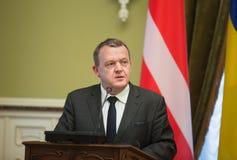 Eerste minister van het Koninkrijk van Denemarken Lars Lokke Rasmussen Stock Afbeeldingen