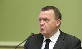 Eerste minister van het Koninkrijk van Denemarken Lars Lokke Rasmussen Royalty-vrije Stock Foto's
