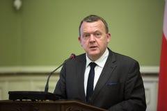 Eerste minister van het Koninkrijk van Denemarken Lars Lokke Rasmussen Stock Afbeelding