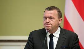 Eerste minister van het Koninkrijk van Denemarken Lars Lokke Rasmussen Stock Foto's