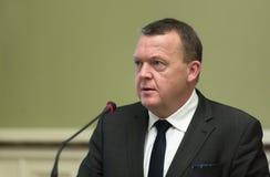 Eerste minister van het Koninkrijk van Denemarken Lars Lokke Rasmussen Royalty-vrije Stock Afbeelding