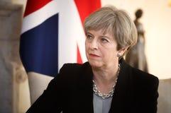 Eerste minister van het Verenigd Koninkrijk Theresa May Stock Afbeeldingen