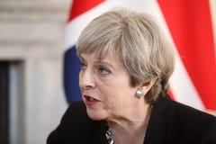 Eerste minister van het Verenigd Koninkrijk Theresa May Stock Fotografie