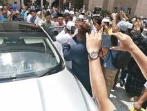 Eerste minister van Maleisië, Tun Dr Mahathir-bak Mohamad royalty-vrije stock afbeeldingen