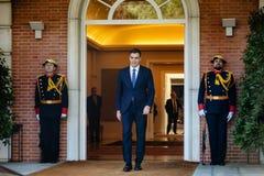 Eerste minister van Spanje Pedro Sanchez stock foto's