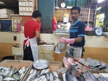 eerste mogen Seremban, Maleisië HoofddieMarkt als Pasar Besar Seramban tijdens het weekend wordt bekend stock foto