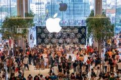 Eerste Officieel Apple Store komt in Bangkok, Thailand aan royalty-vrije stock afbeelding