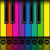 Eerste pianoles vector illustratie