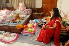 Eerste rijst-Etende Ceremonie Royalty-vrije Stock Fotografie