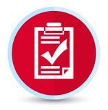Eerste rode ronde knoop van het controlelijstpictogram de vlak stock illustratie