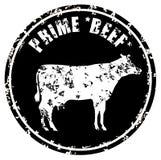 Eerste Rundvleesslager Shop grunge Stock Afbeeldingen