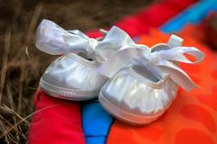 eerste schoenen Royalty-vrije Stock Foto