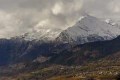 Eerste sneeuw op Haut DE Cry Royalty-vrije Stock Afbeeldingen