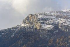 Eerste sneeuw op Haut DE Cry Stock Foto's