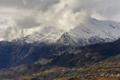 Eerste sneeuw op Haut DE Cry Royalty-vrije Stock Fotografie