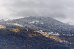 Eerste sneeuw op mont-Edel Royalty-vrije Stock Afbeelding