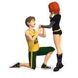 Eerste Toon Love vector illustratie