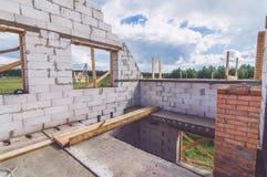 Eerste verdieping van onvolledig huis Stock Afbeelding
