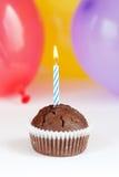 Eerste verjaardag cupcake Royalty-vrije Stock Afbeelding