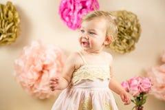 Eerste Verjaardag Photoshoot Royalty-vrije Stock Foto's