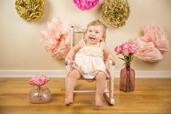 Eerste Verjaardag Photoshoot Royalty-vrije Stock Foto