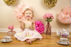 Eerste Verjaardag Photoshoot Stock Afbeeldingen
