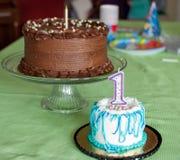 Eerste Verjaardagscakes Stock Foto's