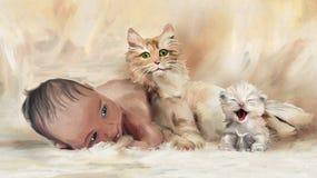 Eerste vrienden royalty-vrije illustratie