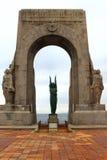 Eerste Wereldoorloggedenkteken, Vallon des Auffes, Frankrijk stock fotografie