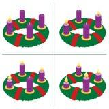 Eerste Zondag van Advent Second Third Fourth Royalty-vrije Stock Afbeeldingen