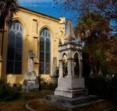 Eery Charleston, Południowa Karolina cmentarz Zdjęcie Royalty Free