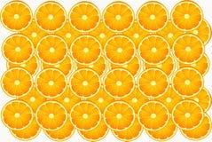Eet de plak oranje cirkel voedsel Stock Foto's