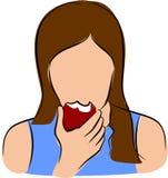 Eet fruit stock illustratie