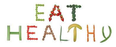Eet gezond Stock Afbeelding