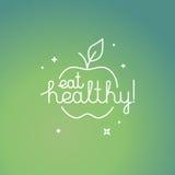 Eet gezond royalty-vrije illustratie