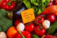 Eet gezond voedsel stock afbeeldingen