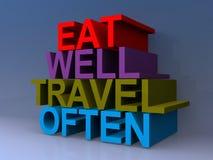 Eet goed reis vaak illustratie vector illustratie